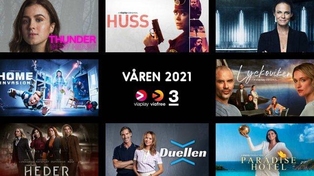 Våren på Viaplay, Viafree och TV3